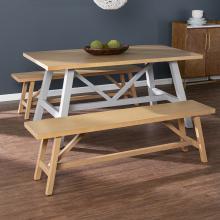 Hambleden Farmhouse Dining Set - 3pc w/ benches