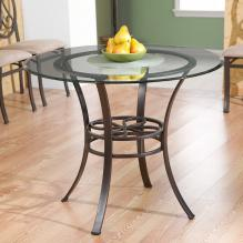 Lucianna Dining Table w/Glass Top.
