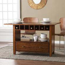 Axford Convertible Console to Dining Table - Oak Saddle