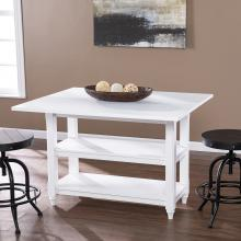 Alverton Convertible Console to Dining Table - White