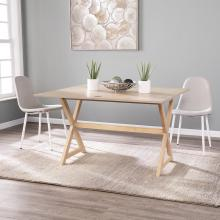 Clarke Console to Dining Table - Washed Brown Oak