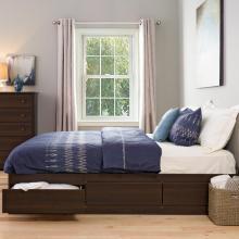 King 6 drawer Platform Storage Bed