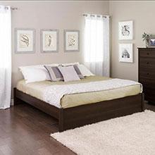 King Select 4-Post Platform Bed, Espresso