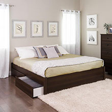 Select Espresso King 4-Post Platform Bed with 2 Drawers