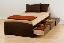 Espresso Twin XL Mate's Platform Storage Bed with 3 Drawers