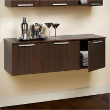 Espresso Coal Harbor Wall Mounted Buffet