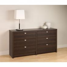 Espresso Series 9 Designer - 6 Drawer Dresser