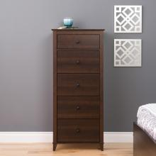Yaletown 5-Drawer Tall Chest, Espresso