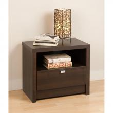 Espresso Series 9 Designer - 1 Drawer Nightstand
