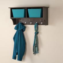 Espresso 36-inch Wide Hanging Entryway Shelf