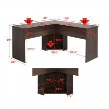 L-shaped Desk, Espresso