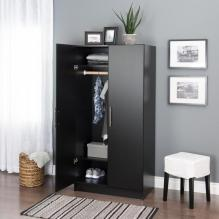 Elite 32 inch Wardrobe Cabinet, Espresso