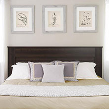King Flat Panel Headboard, Espresso