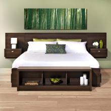Series 9 Designer Floating King Headboard with Nightstands