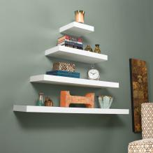 Chicago Floating Shelf 10 White
