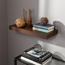 Chicago Floating Shelf 24 - Chocolate