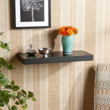 111-240 Chicago Floating Shelf 24 Black
