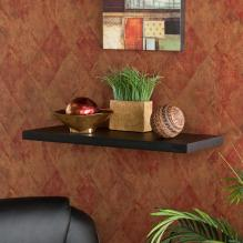 108-240 Aspen Floating Shelf 24 Black