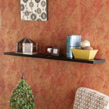 Aspen Floating Shelf 48-inch - Black
