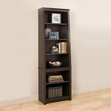 Espresso Tall Slant-Back Bookcase