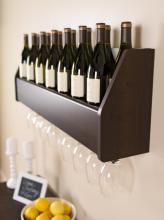 Floating Wine Rack in Espresso