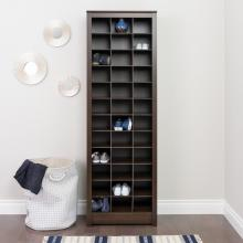 Space-Saving Shoe Storage Cabinet, Espresso