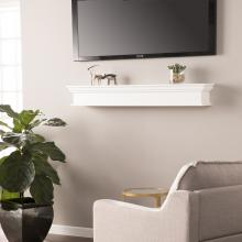 Adair Floating Mantel/Wall Shelf - White
