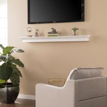 Afton Floating Mantel/Wall Shelf - White