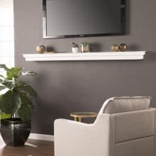 Alberta Fireplace Mantel Shelf- White