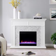 Torlington Color Changing Marble Tiled Fireplace