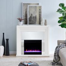 Stadderly Mirrored Color Changing Fireplace