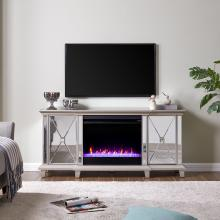 Toppington Mirrored Fireplace Media Console