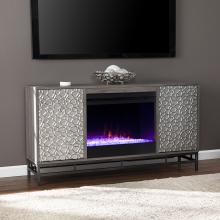 Hollesborne Color Changing Fireplace w/ Media Storage
