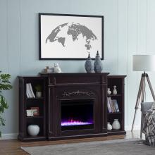 Chantilly Color Changing Fireplace w/ Bookcases