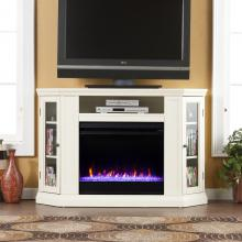 Claremont Color Changing Convertible Fireplace - Ivory