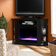Claremont Color Changing Convertible Fireplace - Black