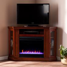 Claremont Color Changing Convertible Fireplace - Brown Mahogany