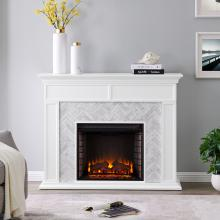 Torlington Marble Tiled Fireplace