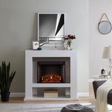 Lirrington Stainless Steel Fireplace