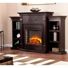 Tennyson Electric Fireplace W/ Bookcases - Classic Espresso