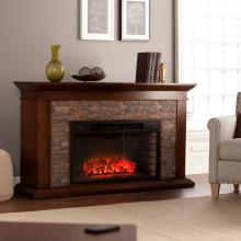 Canyon Heights Simulated Stone Electric Fireplace