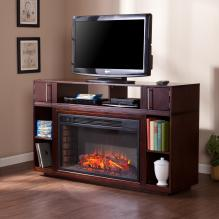 Bexley Media Fireplace - Espresso