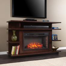 Granville Media Electric Fireplace - Espresso/Ebony Stain