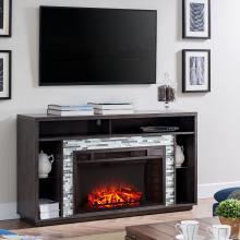 Callum Glass Tiled Media Fireplace