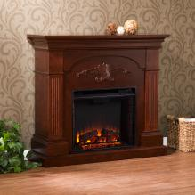 Sicilian Harvest Electric Fireplace - Mahogany