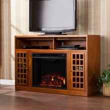 Narita Media Electric Fireplace - Glazed Pine
