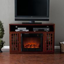 Narita Media Electric Fireplace - Mahogany