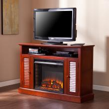 Antebellum Media Fireplace - Classic Mahogany