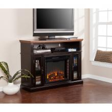 Oxford Media Electric Fireplace - Ebony Stain/Dark Tobacco