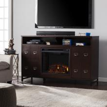 Rutherford Electric Fireplace Media Stand - Espresso